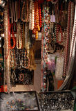 Beads. Street's boutiques and shops with folk beads Royalty Free Stock Images