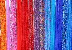 Beads. Close-up of colorful beads Stock Photography