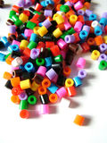 Beads. Plastic Cut color Beads Royalty Free Stock Photos