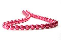 Beads. Red isolated beads on white background Royalty Free Stock Photo