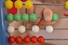 Beads on abacus Royalty Free Stock Photo