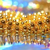 Beads on abstract background Stock Image