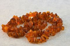 Beads of amber jewelry decoration stock image