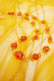 Beads of amber Stock Image