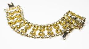 beads armbandguld Royaltyfria Bilder