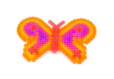 Beads art in the shape of butterfly Stock Photos