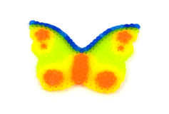 Beads art in the shape of butterfly Royalty Free Stock Photos