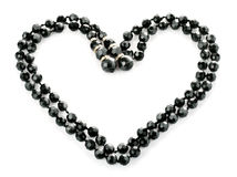 Beads as heart abstract background. Beads as heart on white background Stock Image