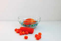 Beads as spices. Glass beads made in the dishes as a spice for cooking Royalty Free Stock Photo