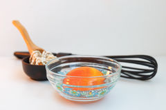 Beads as spices. Glass beads made in the dishes as a spice for cooking Royalty Free Stock Image