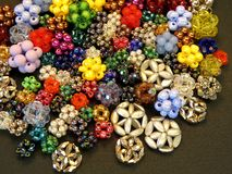 Beads background stock photo