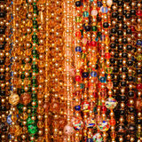 Beads background. Jewelry of Murano Glass Stock Photography