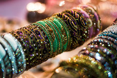 Beads Bangles Display Royalty Free Stock Photography