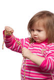 beads barnet little Arkivfoto