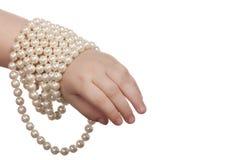 beads barnhanden Fotografering för Bildbyråer