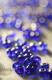 Beads blue Royalty Free Stock Photography