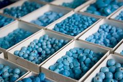beads bluen Royaltyfri Foto