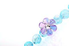 beads bluen Arkivfoton