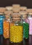 Beads in the bottle Stock Photography