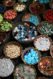 Beads in bowls Stock Image