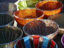 Beads in bowls and bowls of beads Stock Photos
