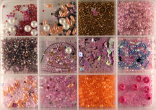 Beads in a box Royalty Free Stock Photos