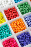 Beads in boxes Royalty Free Stock Image