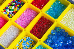 Beads in boxes Royalty Free Stock Photography