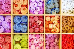Beads in boxes Stock Photography
