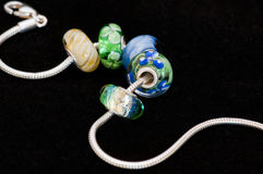 Beads with bracelet Stock Images