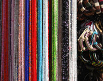 Beads and bracelets Royalty Free Stock Images