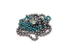 The beads and a brooch Royalty Free Stock Photo