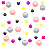Beads. Colored beads on a white background vector illustration