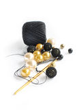 Beads and crochet Royalty Free Stock Photo