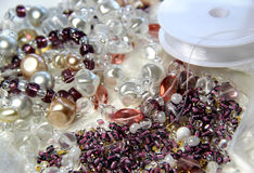 Beads and crystals Royalty Free Stock Photography