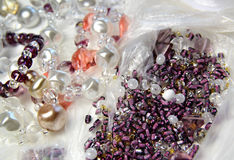 Beads and crystals Royalty Free Stock Image