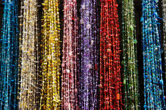 beads den färgglada marknaden morocco Royaltyfria Foton