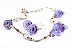 beads den glass purplen Royaltyfri Foto