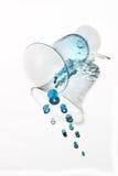 beads den sparkling turkosvasen Fotografering för Bildbyråer