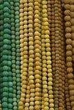 beads färgrika halsband royaltyfri foto