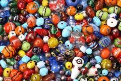 beads färgrikt Arkivfoto