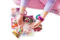 beads färgrikt Royaltyfri Bild
