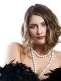 beads flickan fotografering för bildbyråer