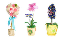 Beads flower tree topiary gift Stock Images