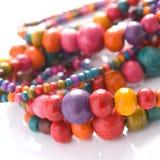 beads färgrikt Arkivbild