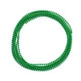 Beads garland round frame isolated Stock Image