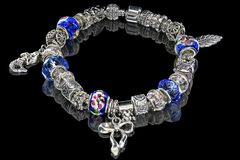 Beads and gems bracelet Stock Photo