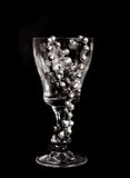 Beads in glass Stock Image
