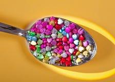 beads glass hjärta Arkivbilder