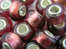 beads glass red Arkivbild